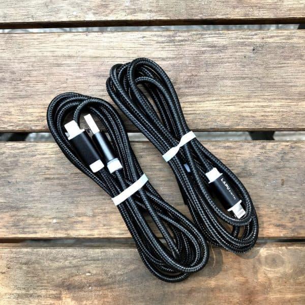 Cáp sạc iphone 1,5m bọc dù màu đen siêu bền (Freeship) - Banle24