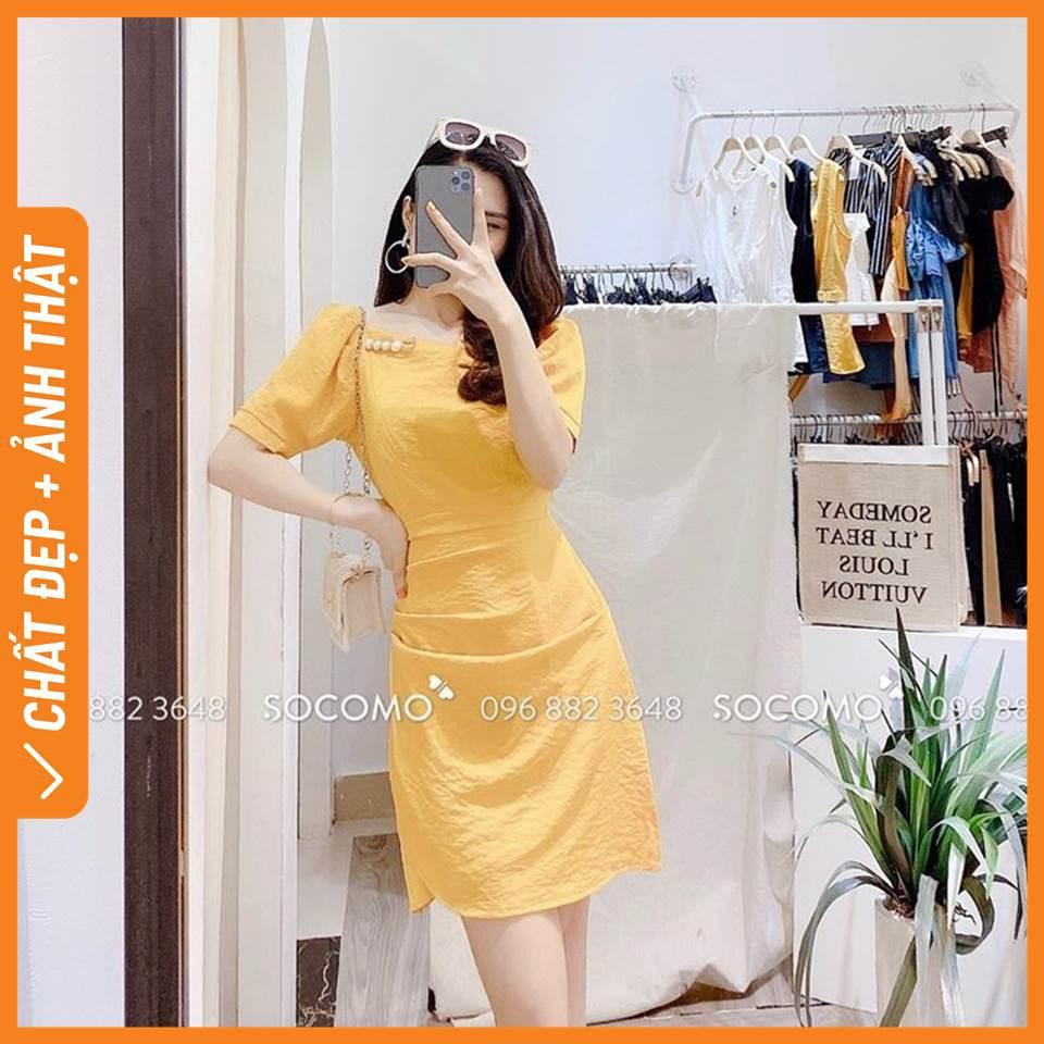 Váy cổ thuyền chữ a tặng kèm cài ngọc trị giá 100k Socomo - Hàng loại 1, chất đẹp - Giá tốt - 100% ảnh Socomo Tự Chụp (freeship)