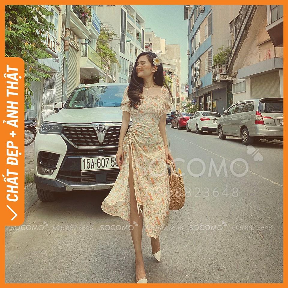 [Giá lẻ bằng sỉ, chất lượng như 500K] - Váy hoa nhí thiết kế - Hàng loại 1,chất đẹp - Giá tốt - 100% ảnh  tự chụp (freeship) - Socomo