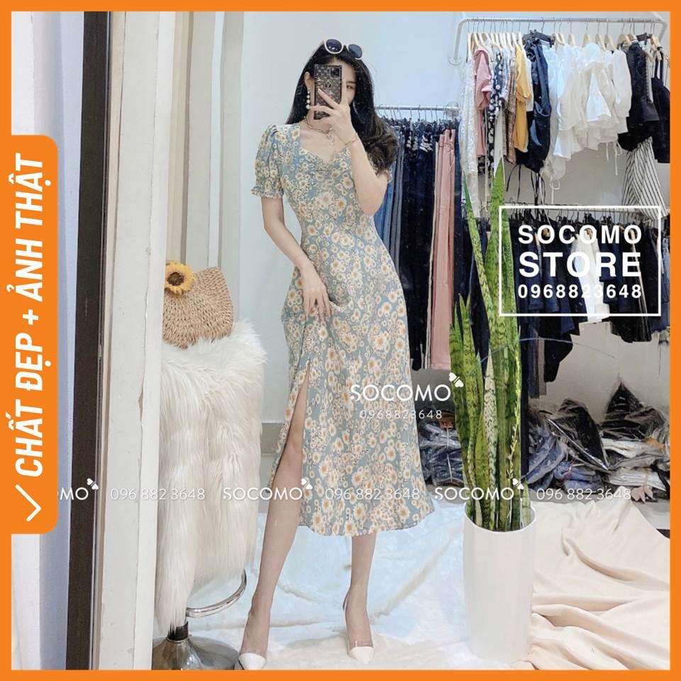 [Giá lẻ bằng sỉ] - Váy hoa nhí voan lụa thiết kế - Hàng loại 1,chất đẹp - Giá tốt - 100% ảnh Socomo tự chụp (freeship)