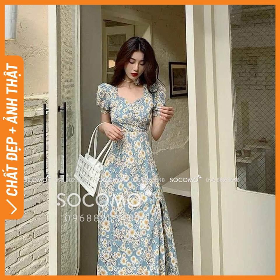 [Giá lẻ bằng sỉ, chất lượng như 500K] - Váy hoa lụa thiết kế - Hàng loại 1,chất đẹp - Giá tốt - 100% ảnh Socomo tự chụp (freeship)