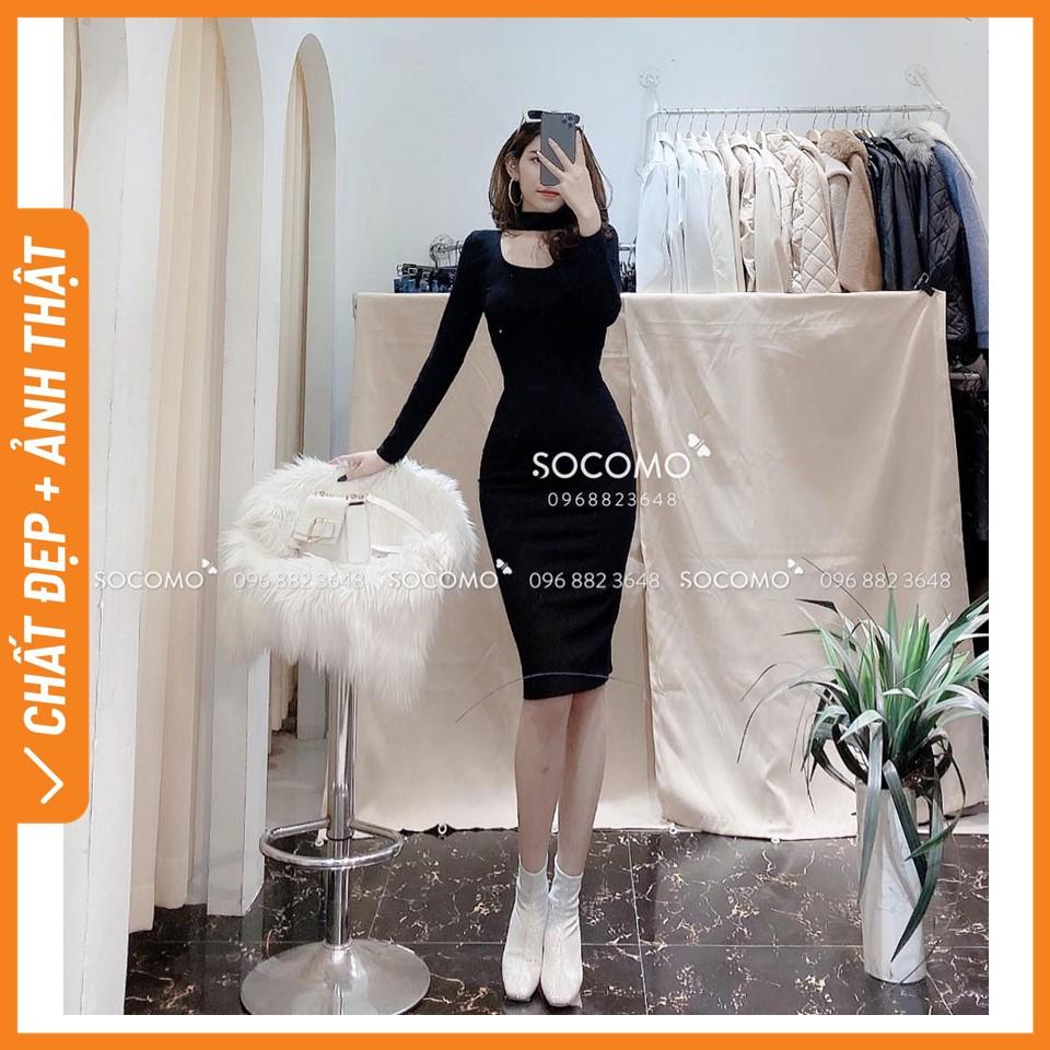Váy body tăm chocker cổ Socomo - Hàng Loại 1, Chất Đẹp - Giá tốt - 100% ảnh Socomo Tự Chụp
